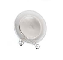 Silver Decorated Acrylic Charger