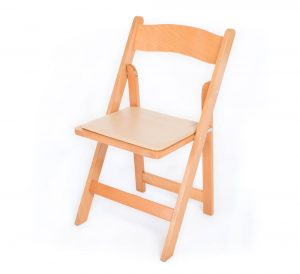 Natural Wood Padded Chair Image