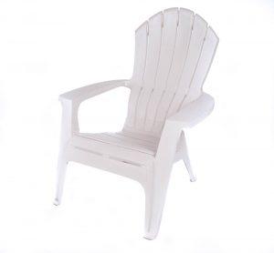 White Plastic Adirondack Chair Image