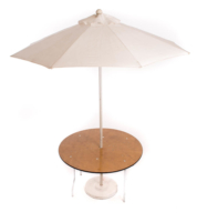 4′ Round Umbrella Table (7.5′ umbrella)