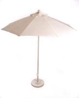 7.5′ Matted White Market Umbrella w/Base