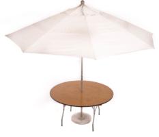 5′ Round Umbrella Table (11′ umbrella)