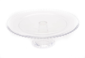 Clear Glass Cake Pedestal 13″