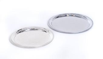 Round Silver Trays 12″ & 14″
