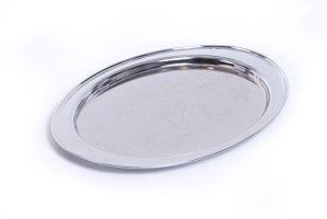 Oval Silver Tray 19″