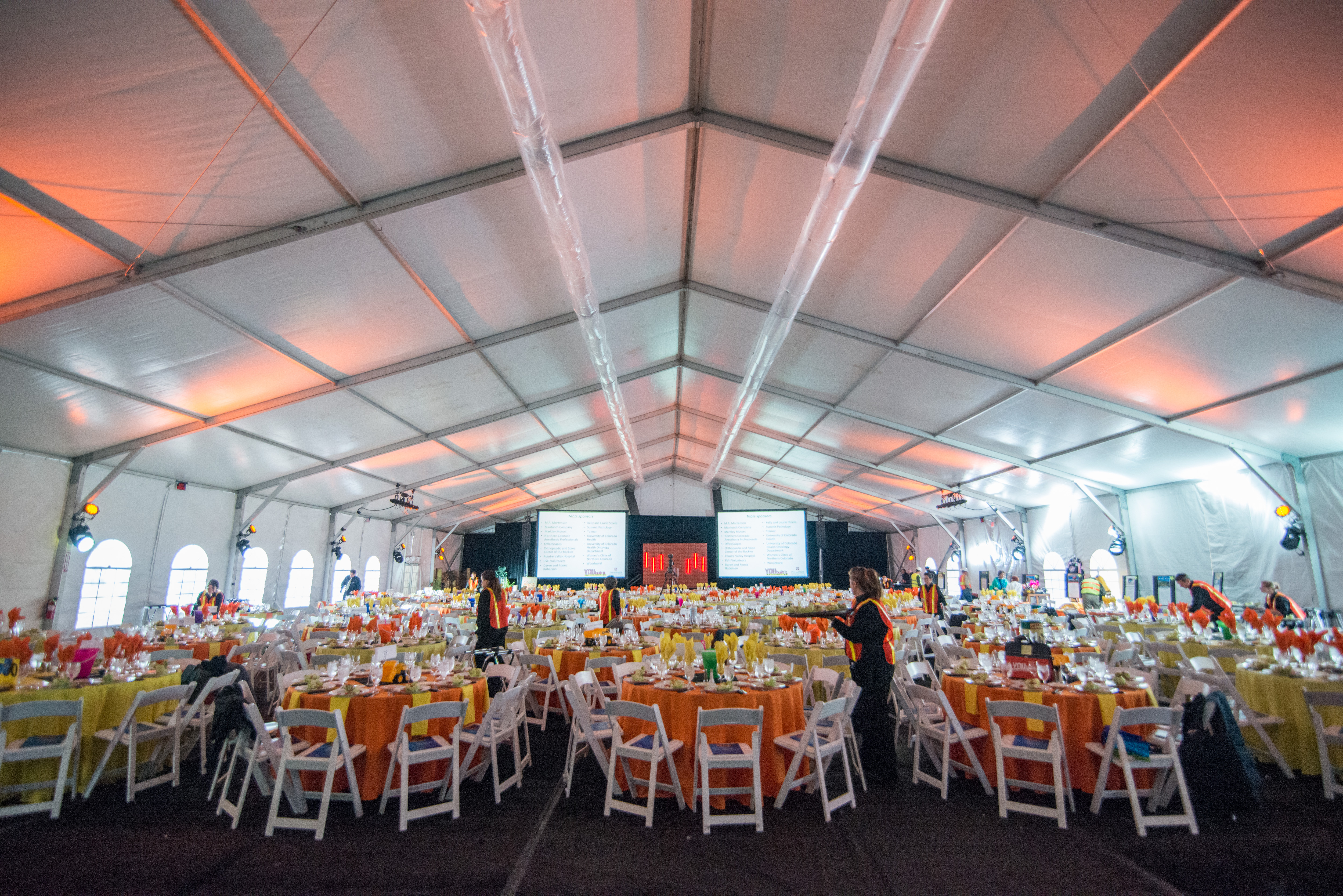 Tables, Chairs and Linens | Flexx Productions - Colorado