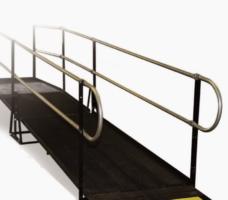 Wheel Chair Ramp 4'x8′ w/Rail