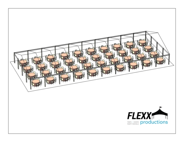 40x100 Flexx Productions Clearspan Tent Layout