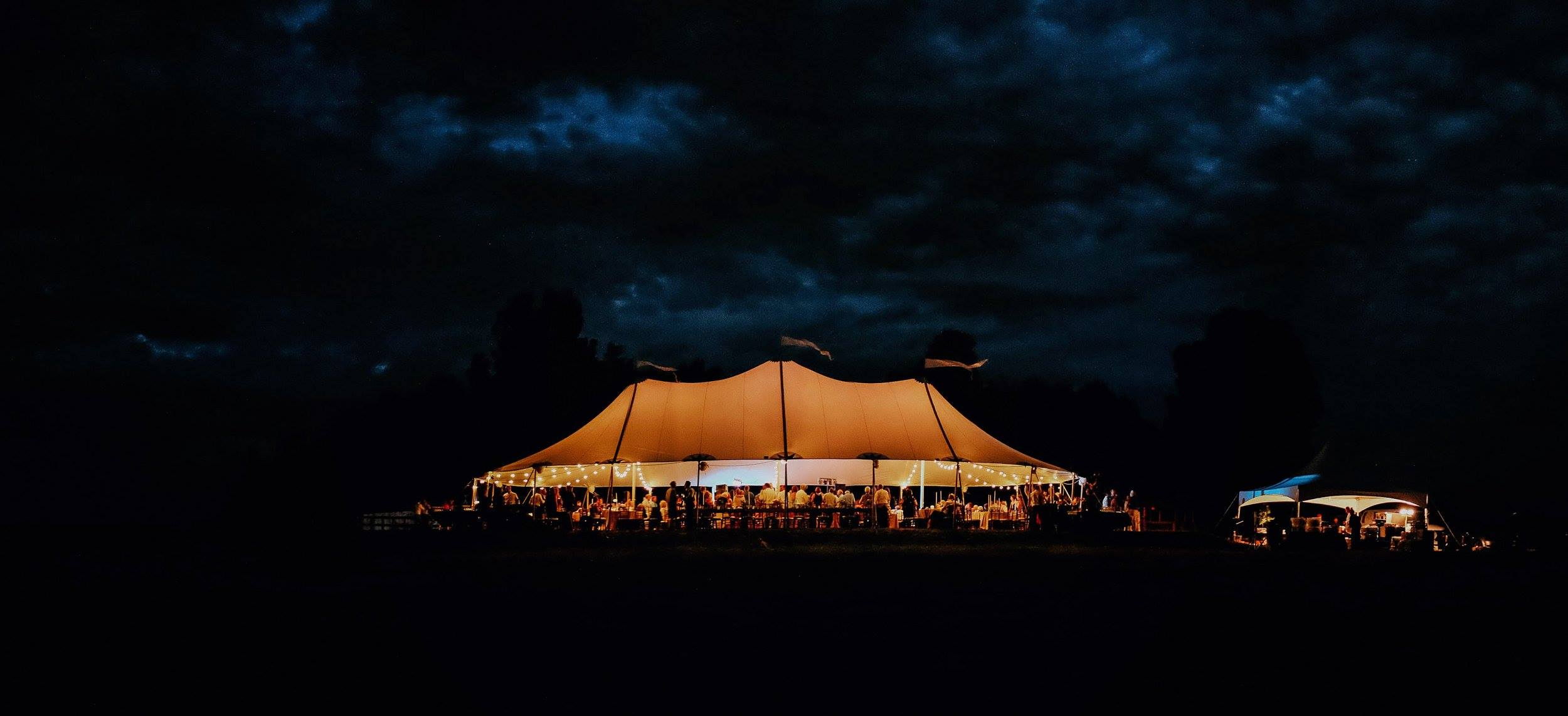 Tidewater Wedding at Night