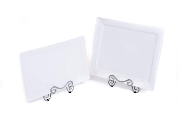 White Platter 17 Inchesx15 Inches