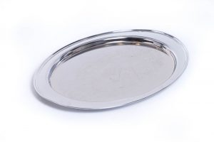 Oval Silver Tray 19 Inches