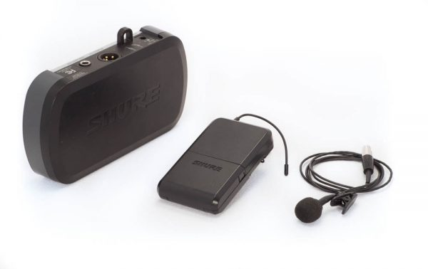 Wireless Lapel Shure Microphone with Receiver