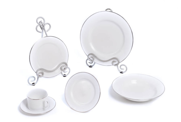 Silver Rim China Set
