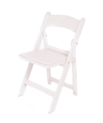White Woodstyle Padded Chair