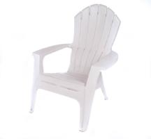 White Plastic Adirondack Chair