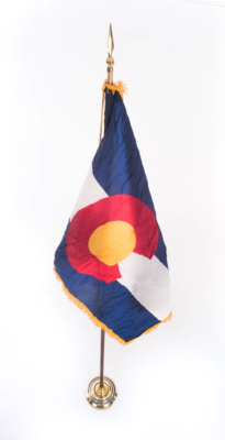 Colorado Flag with Stand