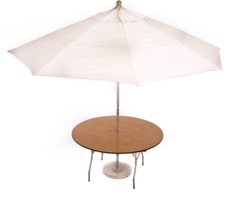 5' Round Umbrella Table (11' umbrella)
