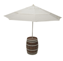 Wine Barrel Umbrella Table