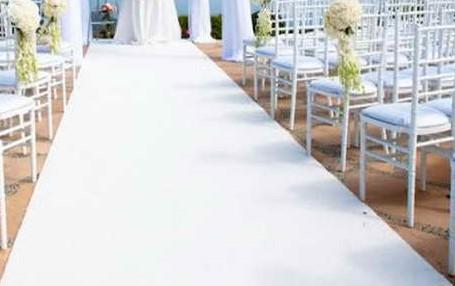 3'x50' White Carpet Runner