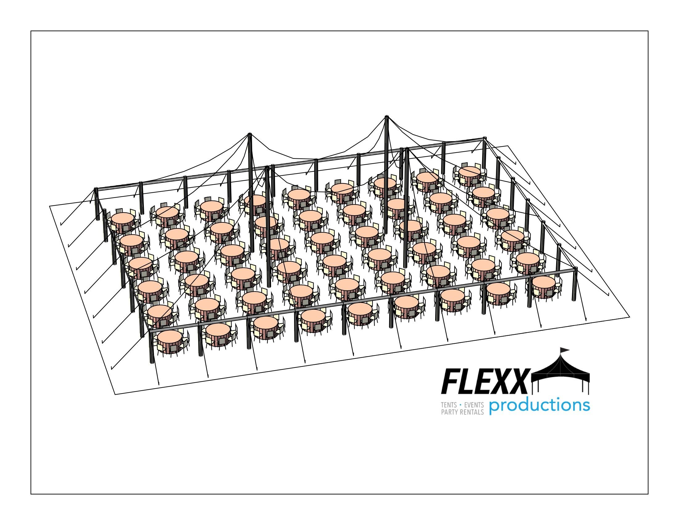 Flexx Productions Pole Tent Layout