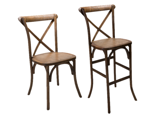 X Back Farm Antique Finish Chair