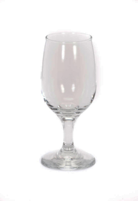 Image of all-purpose, clear wine glass included in FLEXX Productions' glassware rentals.