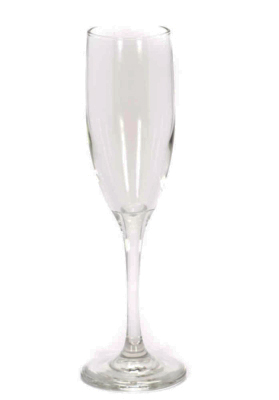 Image of champagne flute 6 ounce glassware rental from FLEXX Productions.