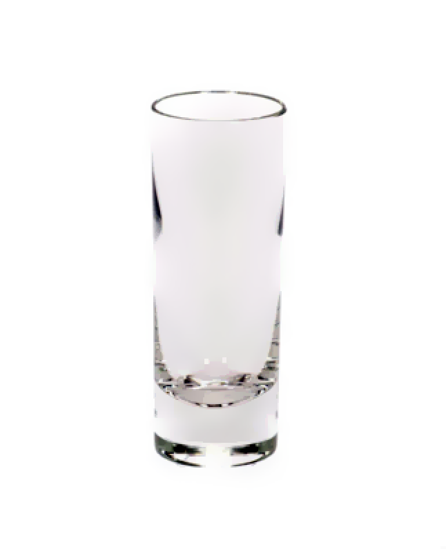 Image of 2.5 ounce cordial shot glass glassware rental from FLEXX Productions
