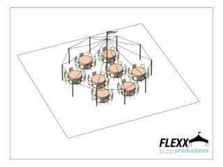 32x30 Flexx Productions Tidewater Tent Layout