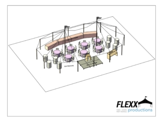 32x50 Flexx Productions Tidewater Tent Layout