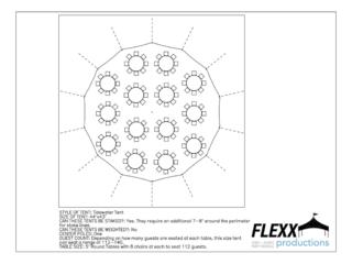 44x83 Flexx Productions Tidewater Tent Layout