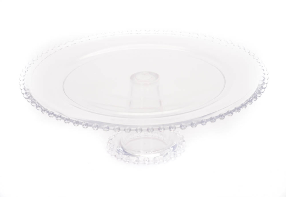 Clear Glass Cake Pedestal 13 Inches