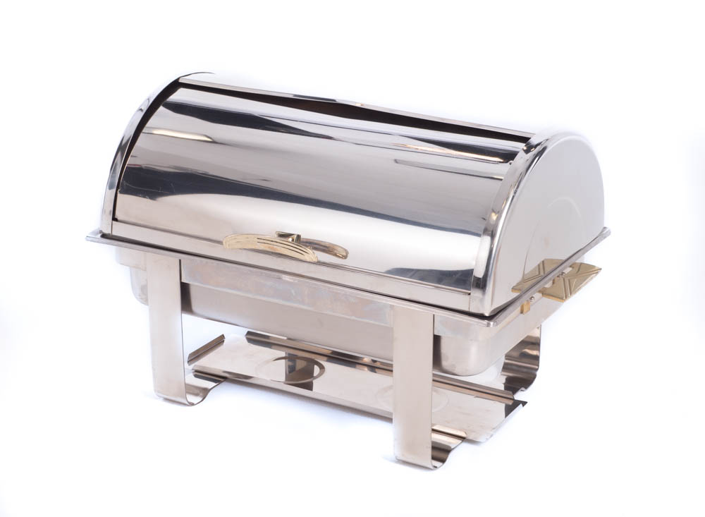Roll Top Rectangular Chaffer 8QT
