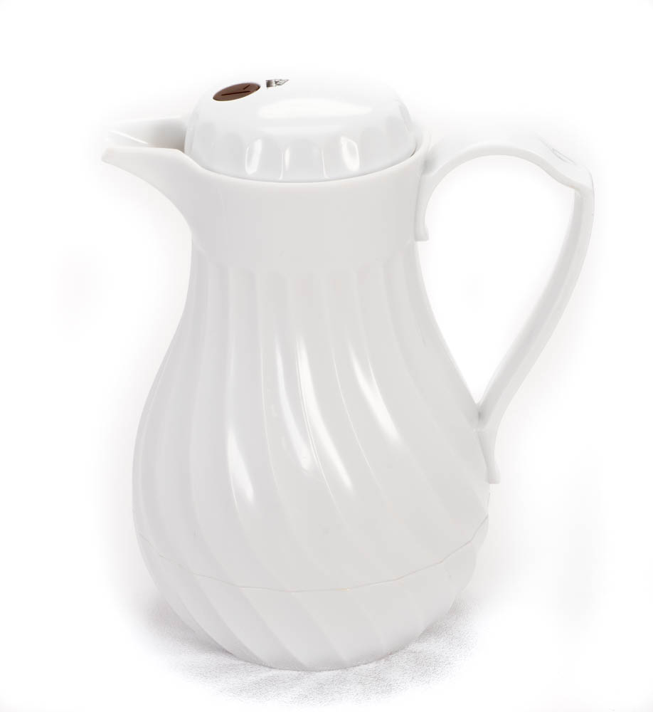 White Thermal Coffee Pitcher
