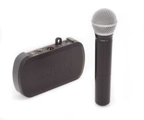 Wireless Handheld Shure Microphone with Receiver