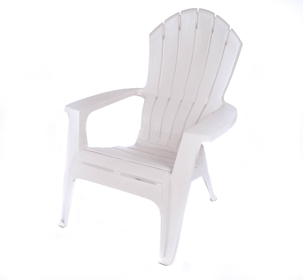 White Plastic Adirondack Chair