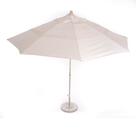 11' Matted White Market Umbrella w/Base