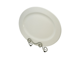 White Oval Platter 18 Inches