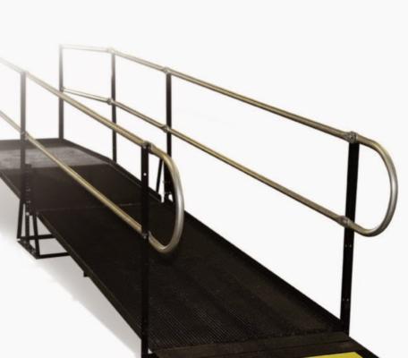 Wheel Chair Ramp 4'x8' w/Rail