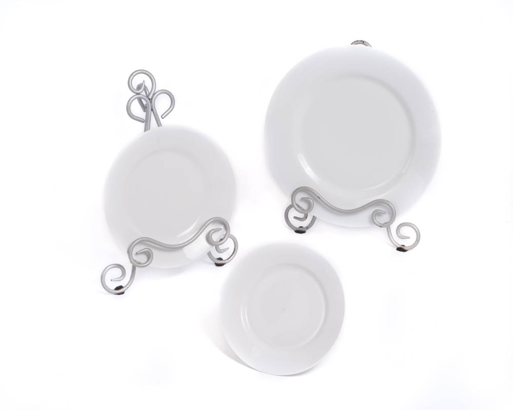 White Line China Set