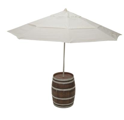 Wine Barrel Umbrella Table