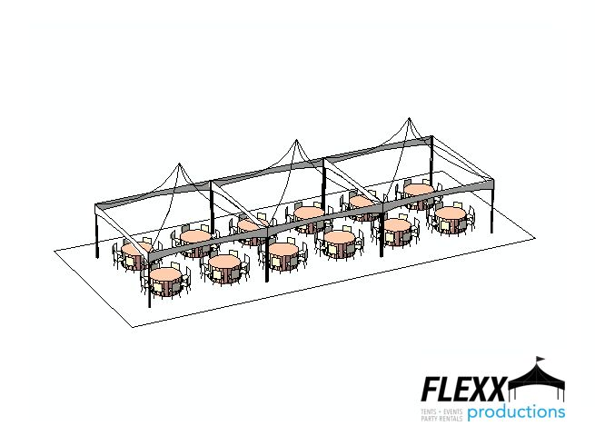 frame tent layout | FLEXX Productions