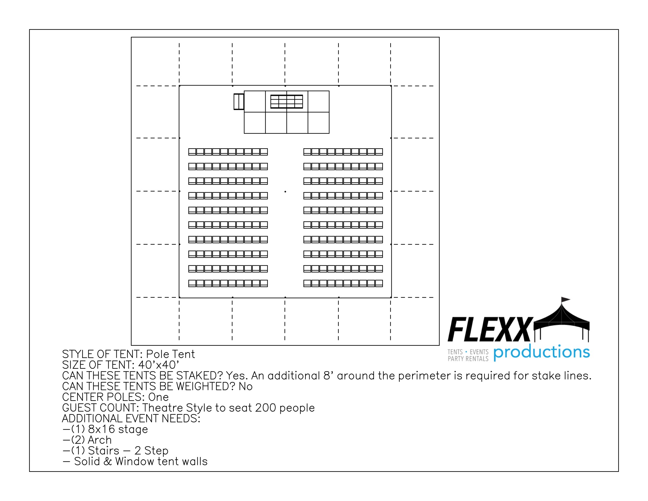 Flexx Productions Pole Tent Layout -  sc 1 st  FLEXX Productions & 40x pole tent layout - FLEXX Productions