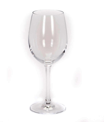 Image of classic 12 ounce red wine glass rental from FLEXX Productions