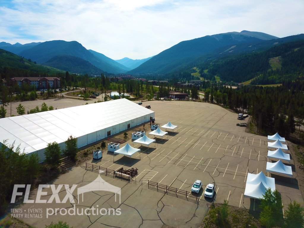 Clearspan structure tents at corporate mountain events.